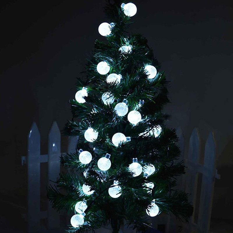 transparent bubble ball fairy diy string lights tinny rope led lamp for christmas tree ornaments patio garden home party decor in glow party supplies from