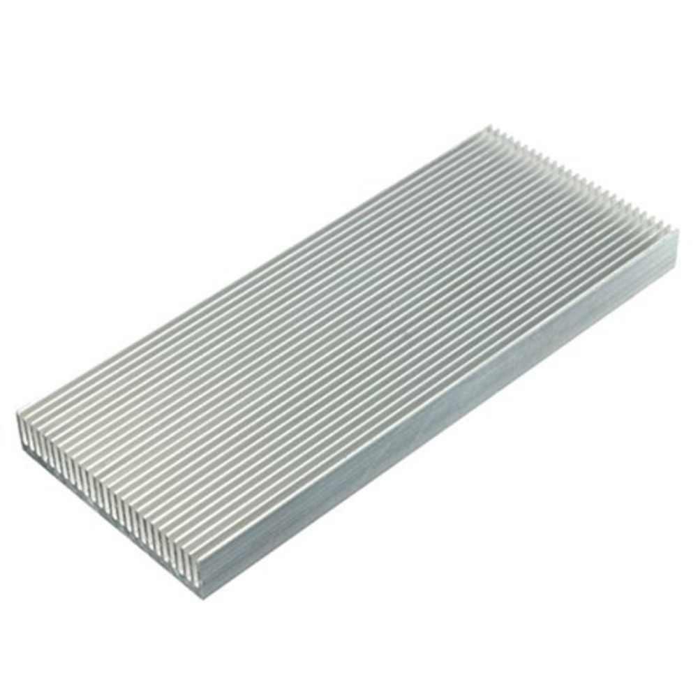 Hot-Aluminium Wastafel Panas Heatsink untuk High Power LED Amplifier Transistor 100x41x8mm