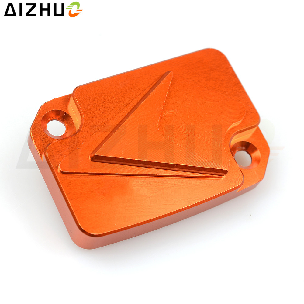 For KTM DUKE 125 200 390 Motorcycle Front Cylinder Fluid Reservoir Cover Cap CNC Aluminum Motorbike Motor Accessories Orange