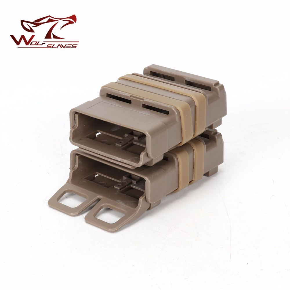 5.56mm Double Magazine Pouch Tactical M4 Gear Bag Quick Fast Mag Clip MOLLE Airsoft Hunting Accessories
