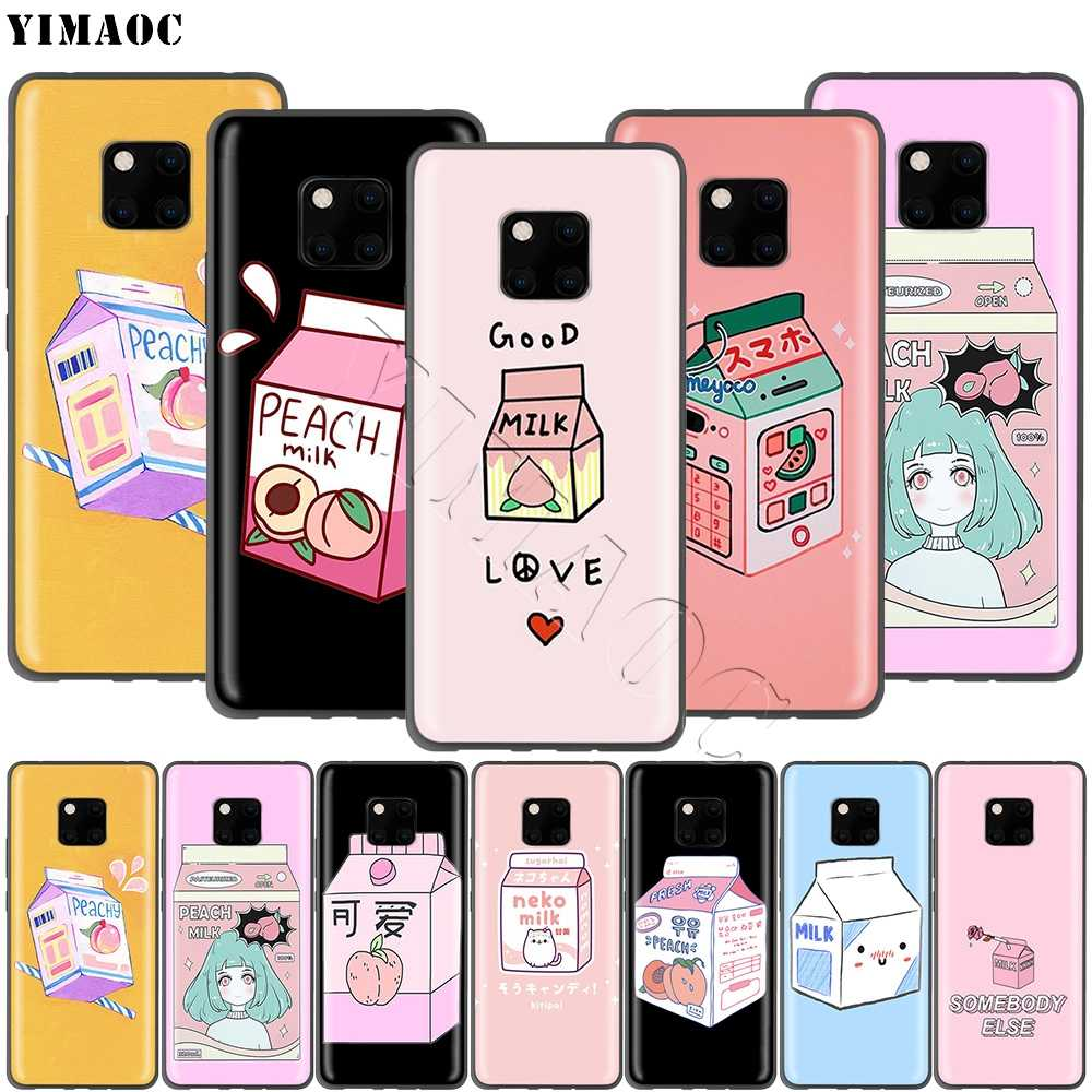 YIMAOC Peach Milk Case for Huawei Mate 10 P8 P9 P10 P20 P30 P Smart Lite Pro Mini 2017