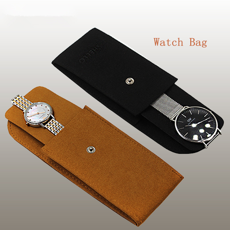 Fashion Leather Watch Storage Bag For Single Watch Thick Packing Gift Box For Men Or Women New Watch Protect Yellow Bags