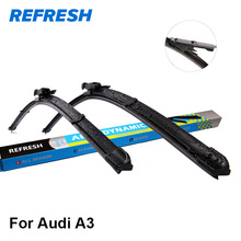 REFRESH Wiper Blades for Audi A3 8L / 8P / 8V Fit Hook / Side Pin / Pinch Tab /Push Button Arms Model Year from 1996 to 2017(China)