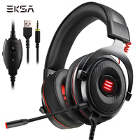 EKSA E900 Virtual 7.1 Surround Sound Gaming Headset Led USB/3.5mm Jack Wired Headphone With Microphone For Xbox One PS4 PC Gamer