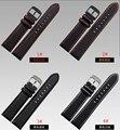 Atacado Pulseira straps alça De Fibra De Carbono com a red costurado Banda linha soft light sport watch straps18mm 20mm 22mm 24mm macho