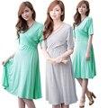 MamaLove gravidez Amamentação Maternidade Vestidos de Roupas de Moda de Maternidade de Verão Vestido de roupas para Mulheres Grávidas Enfermagem