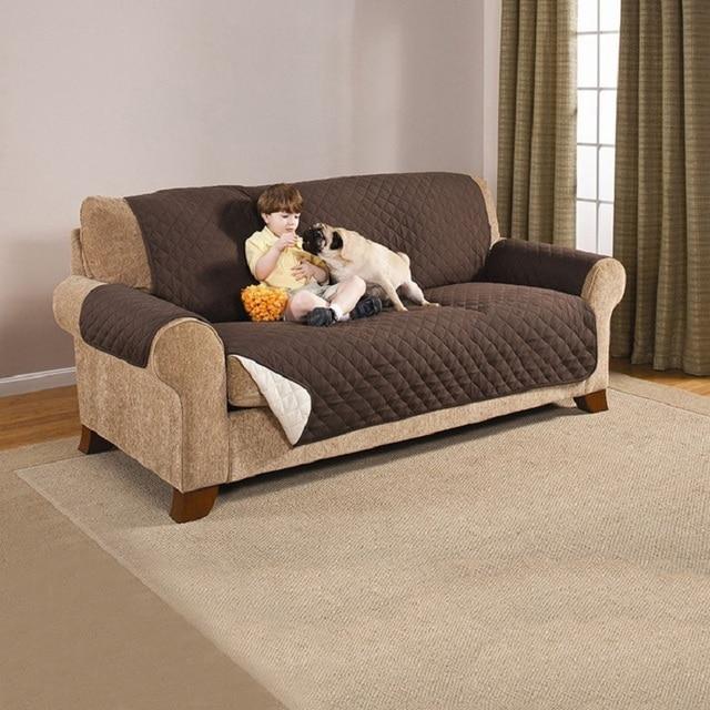 Dust Proof Sofa Slipcover Solid Sofa Cover Washable Waterproof Sofa Towel  Single/Double/