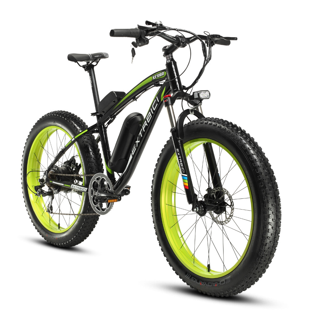 Free Customs 4.0 Fat Tire Electric Mountain Bike Mans 500Watt 48V10.4ah Lithium Battery XF660 26 All Road Conditions Snow Beach new 36v 350 watt lithium battery electric snow bike mountain bike shiman0 24 speed electric bicycle black and green road cycling