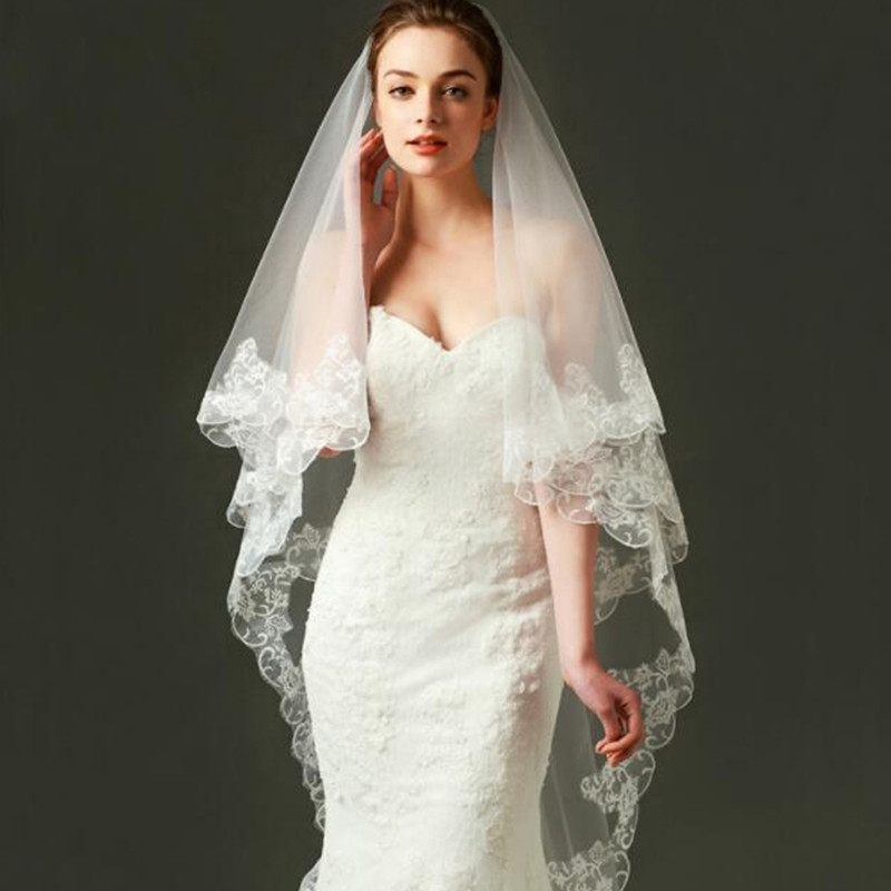 LAN Ting novia one-tier joyería de moda flor estilo malla convertible largo vestido nupcial boda acento/decorativo