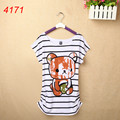 New Women  T Shirts OWL Skull Printed Cotton Tops Tee Cartoon Girl T-Shirts