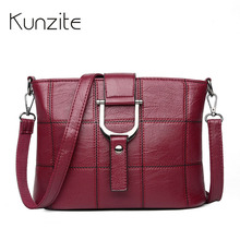 hot deal buy kunzite soft woman bag leather crossbody bags for women messenger bags female shoulder handbag crossbody bag for women sac femme