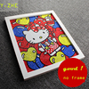 25 30CM 5D DIY Diamond Painting Colourful Hello Kitty Full Embroidery Round Diamond Rhinestone Room Decoration