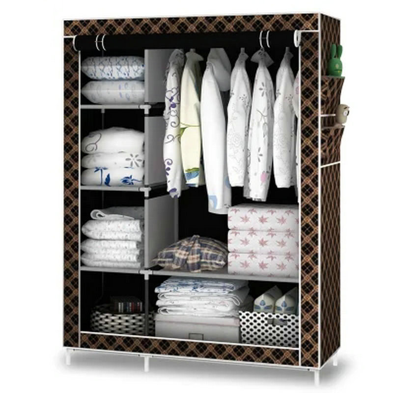 Cloth art Wardrobe Closet Large Simple Wardrobe Cabinets Simple Folding Reinforcement Receive Clothe storage Cabinet wardrobe extra large eco friendly cartoon hanging clothes cabinet wardrobe storage box wire combined type child simple