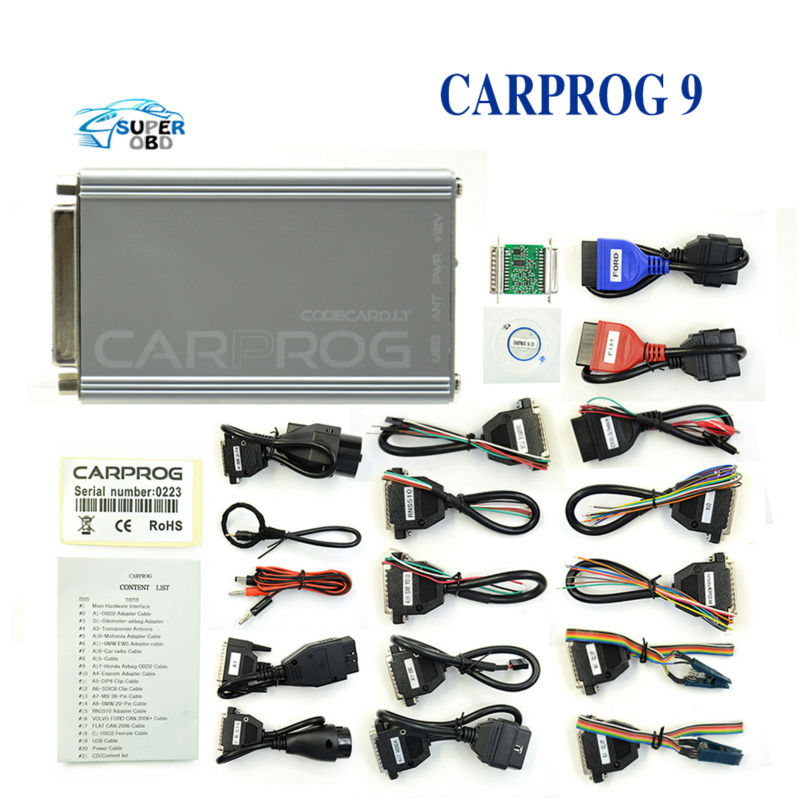 ФОТО 2017 Newest version carprog On promotion carprog full V9.31 adapter CARPROG v9.31 Support Airbag Reset Function Well free ship