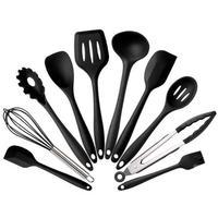 Hot 10PCS Heat Resistant Convenient Safe Silicone Kitchen Cookware Set Nonstick Cooking Tools Set Kitchen & Baking Tool Kit