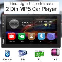 2 Din Car Radio 7In 1080P Audio Stereo 2Din Auto Bluetooth Carro Radios Multimidia FM Universal Win CE 45