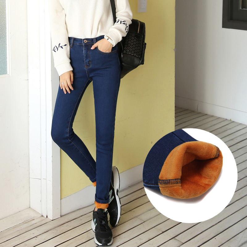 Winter Warm thick velvet skinny jeans Pants for woman Plus size XL-5XL Blue Demin trousers Skinny ladies pants Femme Pantalon смартфон highscreen fest xl pro blue