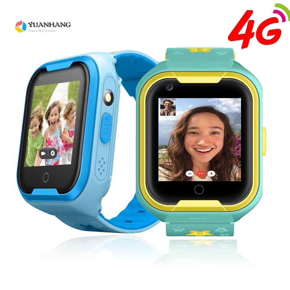 IPX7 Étanche Smart 4g À Distance Caméra GPS WI-FI Enfants Enfants Étudiants Montre-Bracelet SOS Appel Vidéo Moniteur Tracker Emplacement Montre