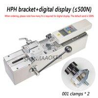 HPH 1PC manual de máquina de ensaio de tração Horizontal display digital force gauge test bench Arnês terminal puxe tester