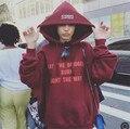 2016 eua Justin bieber vetements vermelho oversized hoodies moda do outono do algodão dos homens e mulheres casal marca kanye west roupas s-xxl