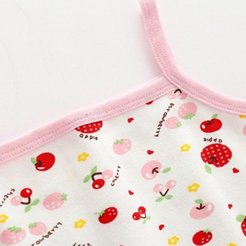 2pc/lot Girls Cute Cartoon vest  Tanks Children Ventilate Cotton Tank T-short 5