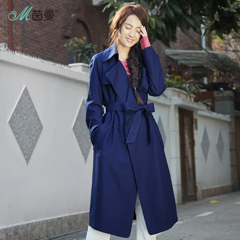 INMAN 2019 New Products Women Spring Clothes Lapel Long Sleeves   Trench   Coat Coat