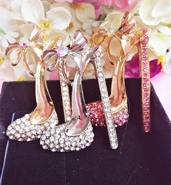 ff68aafb2 10pcs lot Min. 15 (Mixed Order) Crystal heels shoes bow bowknot Pendant