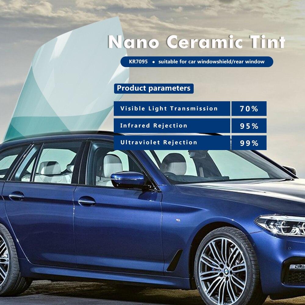 4mil 99% IR rejet Nano céramine film de fenêtre de contrôle solaire utilisation pour voiture et fenêtre de maison 1.52x3 m (60inx10ft)
