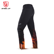 WHEEL UP Thermal Fleece Cycling Pants Winter Warm Men Pockets Bicycle Pants MTB Road Bike Trousers Windproof Cycling Clothing