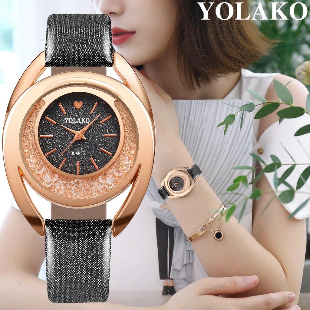 YOLAKO Watch Women Bracelet Ladies Watch With Rhinestone Clock Womens Vintage Fashion Dress Wristwatch Relogio Feminino Gift 533