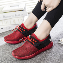 Autumn New Mesh Belt Decorated Solid Color Round Rubber Mesh Low font b Shoes b font