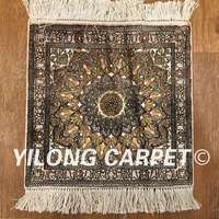 Yilong 1 X1 450Line Vintage Art Collection High Quality Handmade Area Rug On Sale PWP018H 1x1