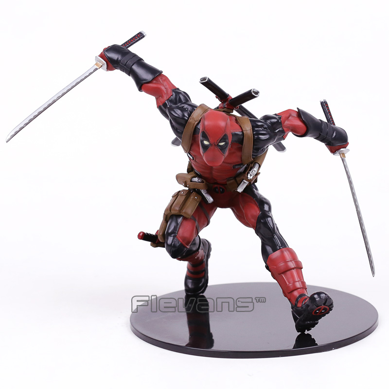 Deadpool 1/6 Scale Pre-Painted PVC Statue Figure Collectible Model Toy 22cm EMS Free Shipping 1 6 scale model metal gear solid v the phantom d dog diamond dog about 23cm collectible figure model toy gift