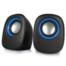 Bärbar En Par Mini Seaker 3D Surround Stereo Bas USB För Mobiltelefon Bärbar PC Universal Music Audio Player