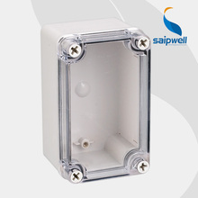 Hot sale ip66 waterproof electrical plastic junction box with transparent cover 80 130 70mm High quality