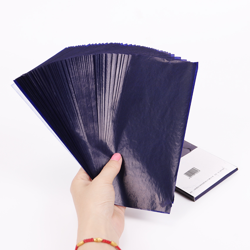 Stationery Paper Thin-Type Double-Sided Blue Office-Supplies 48K Finance 50PCS