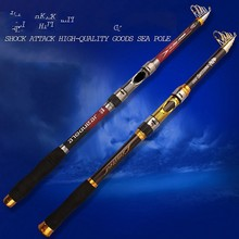 Battlesea Superhard 2.1m 2.4m 2.7m 3.0m 3.6m Portable Carbon Telescopic Fishing Rod Sea Rods Fishing Rod Spinning Fishing Pole new sea rod long shot thrown pole 2 4 2 7 3 0 3 6m carbon hard spinning lure rod superhard telescopic fishing rod