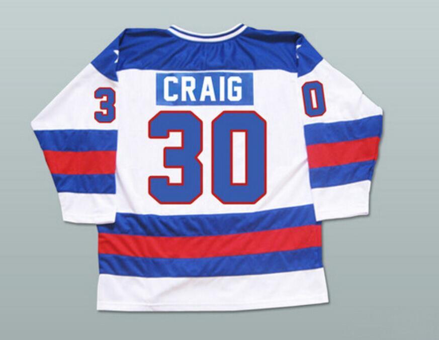 ФОТО Hockey Jersey Vintage 1980 Miracle On Ice Team USA Jim Craig 30 Hockey Jersey Winter Sport Wear Wholesale Dropship