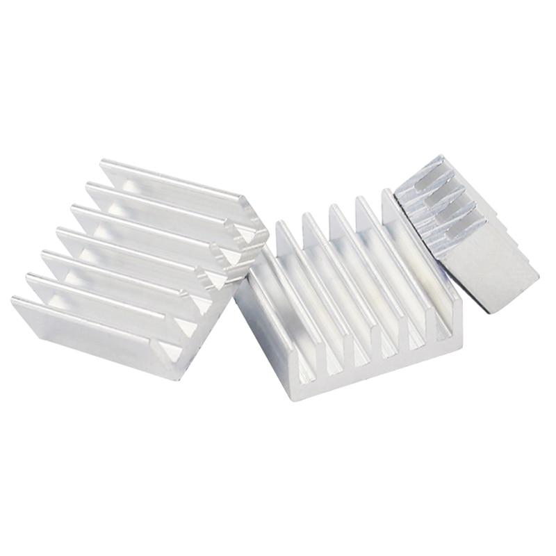 Raspberry Pi Heat Sink 3pcs Aluminum Cooler Radiator Heatsinks Suitable For Raspberry Pi 3 Model B+/3B/2B/B+