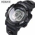 New Mens Digital Watches HONHX Brand Rubber LED Electronic Wrist Watch Men Sports Alarm Date Sports Watch Clock Reloj #ZYL