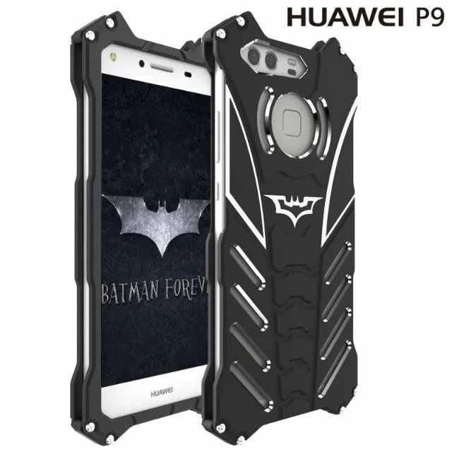 R-Solo Originale Serie di Batman Metallo Armatura Cornice Alloggiamento di Alluminio Del Telefono Custodie sFor Huawei P9 P9 Più Coque Anti -bussare di Nuovo di Copertura