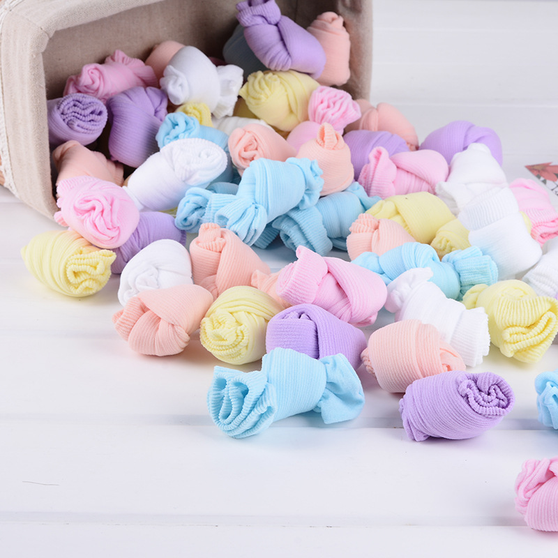 20 Pairs/Lot Girls Socks for Children Kids Mesh Style Baby Girl Socks with Elastic Candy Colors Summer Wholesale 2