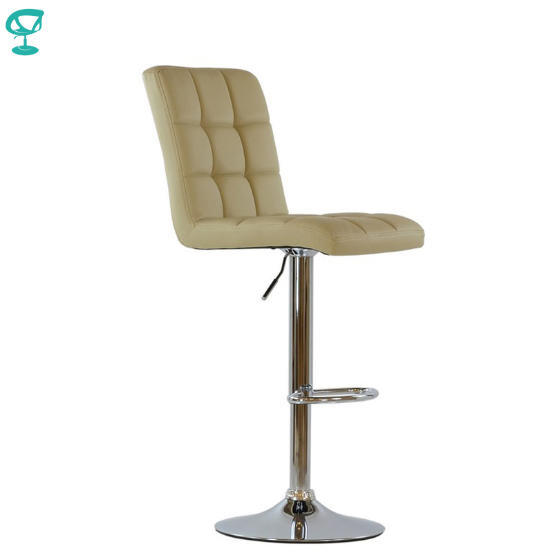 94790 Barneo N-48 Leather Kitchen Breakfast Bar Stool Swivel Bar Chair beige color free shipping in Russia