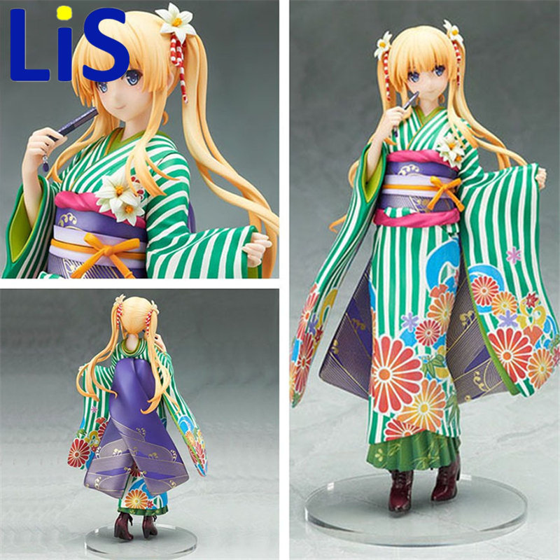 Lis The Cultivating Way Eriri Spencer Sawamura Action Figure Kimono Ver. Eriri PVC Figure Toy Brinquedos Anime 20CM Kids Toys ynynoo to love darkness yuuki mikan action figure wedding dress underwear ver mikan yuuki pvc figure toy brinquedos anime 24cm