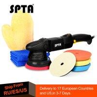 SPTA 5Inch 125mm 15mm Dual action polisher DA Polisher Car Polisher & Polishing Pads Microfiber Towel Glove Set For Auto Polish