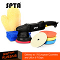 SPTA 5Inch 125mm 15mm Dual action polisher DA Polisher Car Polisher & Polishing Pads Microfiber Towel Glove Set For Auto Polish