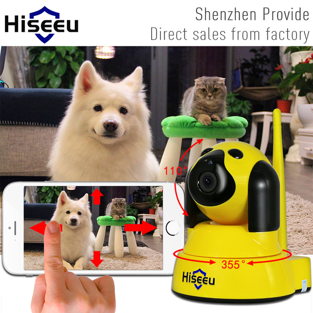 IP Camera Wi-Fi Wireless Smart Dog Security wifi Camera Micro SD Network Rotatable Defender Home Telecam CCTV Android IOS PC FH4