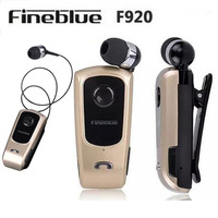 New Original Brand Wireless Bluetooth Headphone FineBlue F920 Calls Remind Vibration Wear Clip Headset For IPhone