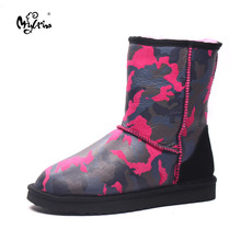 Hot sell 2017 New Brand Women Shoes 100% Genuine Sheepskin Women boots Real Wool Snow Boots Lady's Winter Shoes
