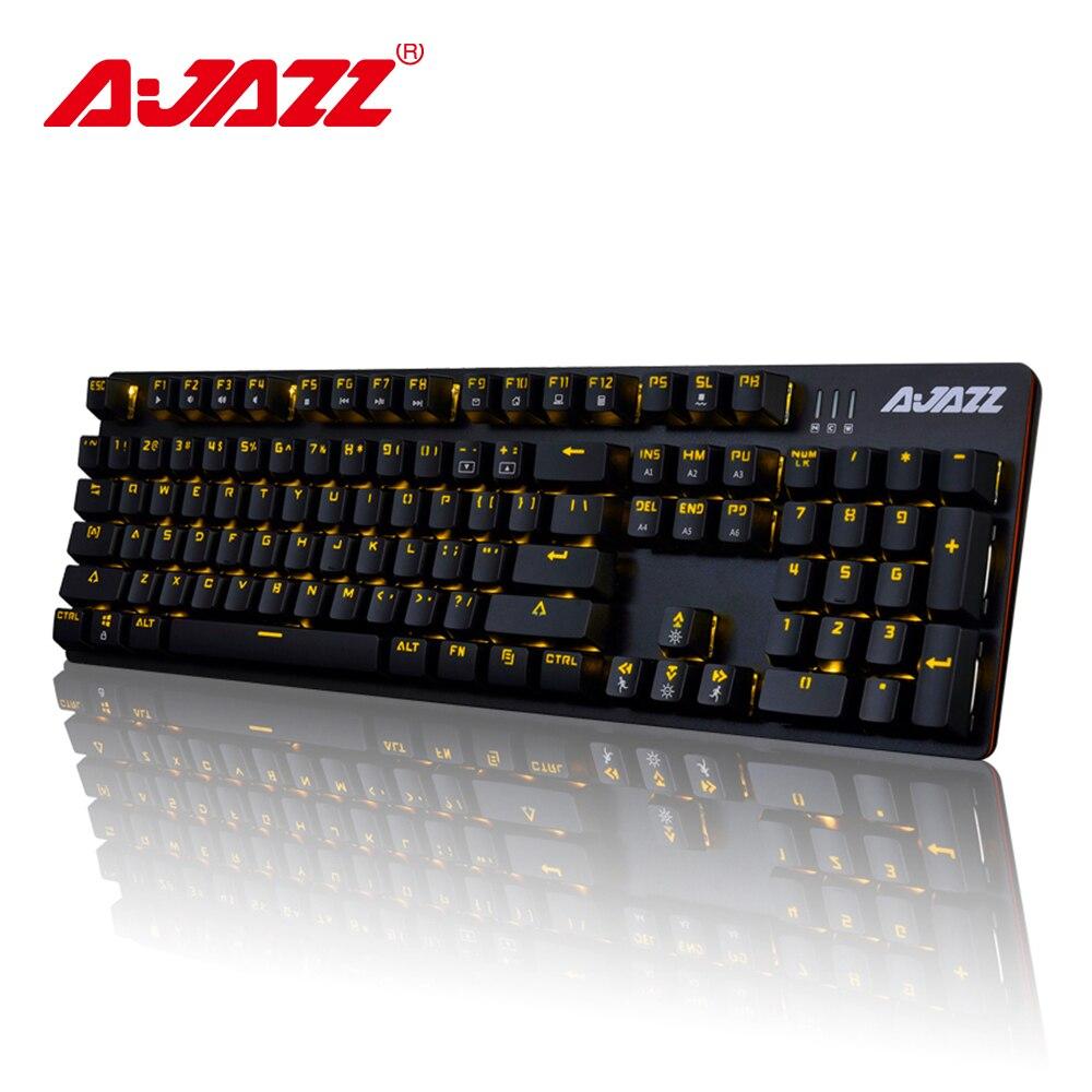Ajazz ROBOCOP clavier mécanique filaire clavier de jeu rétro-éclairage anti-fantôme n-key rollover marron/noir/rouge/bleu commutateurs